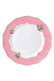 ROYAL ALBERT Cheeky Pink Vintage dinner plate 27cm