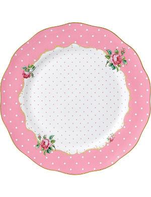 WEDGWOOD Cheeky Pink Vintage dinner plate 27cm