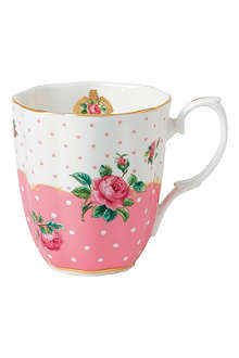 ROYAL ALBERT Cheeky Pink Vintage mug 350ml