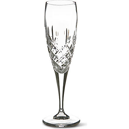 ROYAL DOULTON Dorchester crystal champagne flutes, set of 6