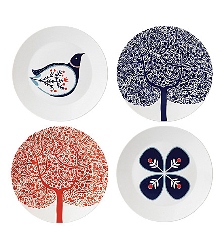 ROYAL DOULTON Fable porcleain plate set of four 22cm
