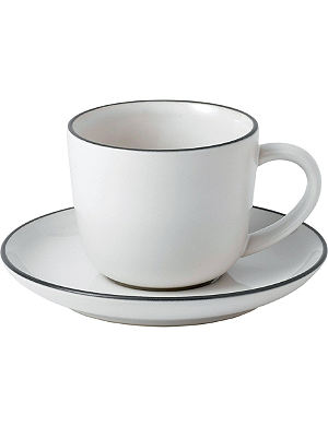 WEDGWOOD Gordon Ramsay Bread Street espresso cup and saucer