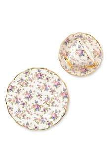 ROYAL ALBERT English Chintz 1940 three-piece tea set