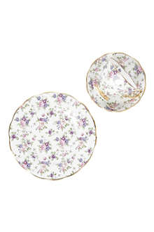 ROYAL ALBERT 1940 English Chintz three-piece tea set