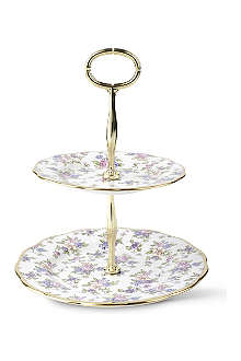 ROYAL ALBERT 1940 English Chintz cake stand