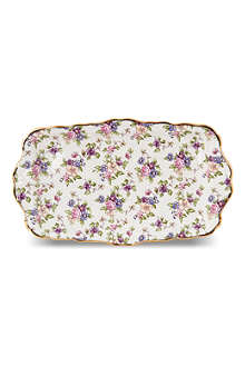 ROYAL ALBERT 1940 English Chintz sandwich tray