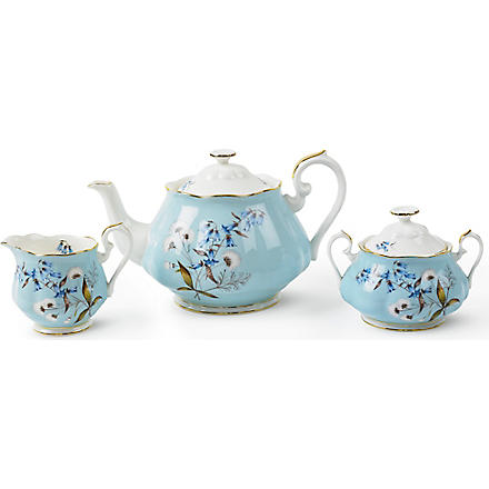 ROYAL ALBERT 1950 Festival three-piece tea set