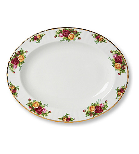 ROYAL ALBERT Old Country Roses small oval dish 33cm