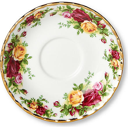 WEDGWOOD Old Country Roses tea saucer