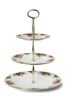 WEDGWOOD Old Country Roses three-tier cake stand