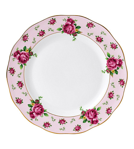 WEDGWOOD New Country Roses Pink dinner plate 27cm