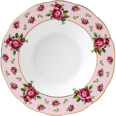 ROYAL ALBERT New Country Roses Pink soup & salad bowl 24cm