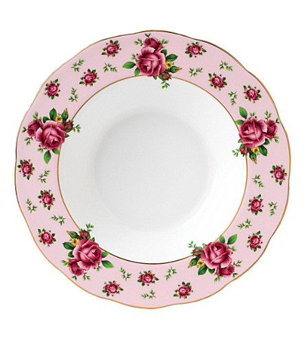 WEDGWOOD New Country Roses Pink soup & salad bowl 24cm