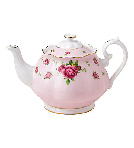 WEDGWOOD New Country Roses Pink teapot 1.25L