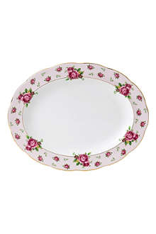 ROYAL ALBERT New Country Roses Pink oval platter 33cm