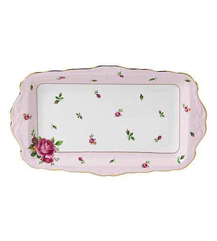 WEDGWOOD New Country Roses Pink sandwich tray
