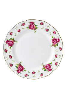 ROYAL ALBERT New Country Roses White dinner plate 27cm
