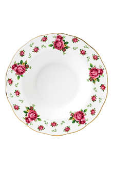 ROYAL ALBERT New Country Roses White soup & salad bowl 24cm