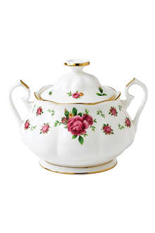 ROYAL ALBERT New Country Roses White sugar bowl 350ml