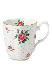 WEDGWOOD Pink Rose vintage mug