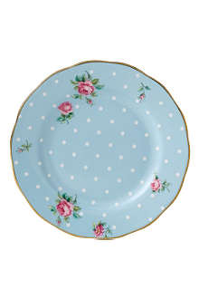 ROYAL ALBERT Polka Blue Vintage plate 16cm