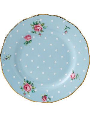 WEDGWOOD Polka Blue Vintage plate 16cm