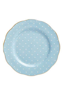 ROYAL ALBERT Polka Blue Vintage plate 20cm