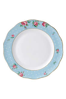 ROYAL ALBERT Polka Blue Vintage dinner plate 27cm