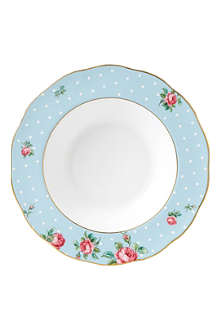 ROYAL ALBERT Polka Blue Vintage soup plate 24cm