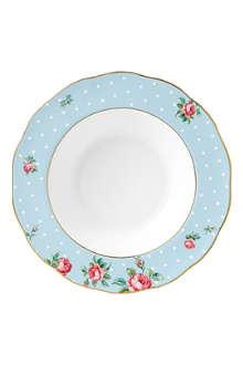 ROYAL ALBERT Polka Blue Vintage soup plate 24cm