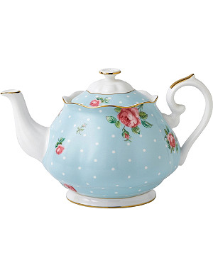 ROYAL ALBERT Polka Blue Vintage teapot