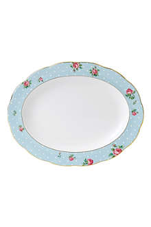 ROYAL ALBERT Polka Blue Vintage oval platter 33cm