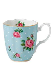 WEDGWOOD Vintage polka dot rose mug