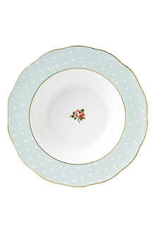 ROYAL ALBERT Polka Rose Vintage soup plate 24cm