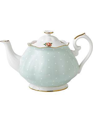 WEDGWOOD Polka Rose Vintage teapot