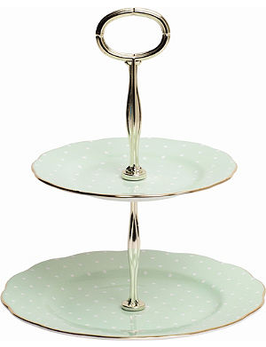 WEDGWOOD Polka Rose Vintage two-tier cake stand