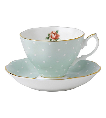 WEDGWOOD Polka Rose Vintage tea cup and saucer set