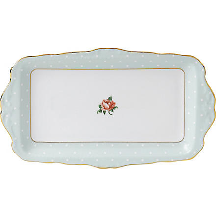 ROYAL ALBERT Polka Rose Vintage sandwich tray