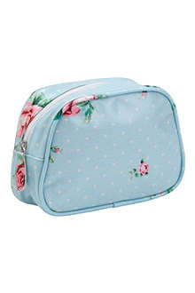 WEDGWOOD Polka floral make-up bag