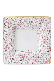 ROYAL ALBERT Confetti Rose Vintage square trinket tray
