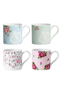 WEDGWOOD Royal Albert gift set of four mugs