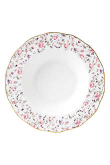 WEDGWOOD Royal Albert Rose Confetti Vintage soup plate
