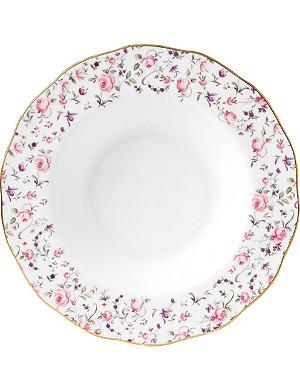 ROYAL ALBERT Royal Albert Rose Confetti Vintage soup plate