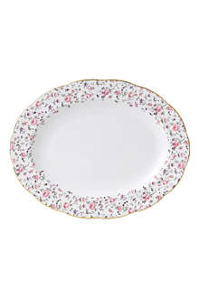 WEDGWOOD Royal Albert Rose Confetti Vintage oval platter