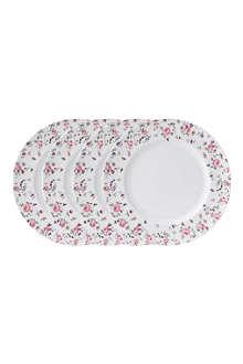 ROYAL ALBERT Royal Albert Rose Confetti Modern set of four plates 27cm