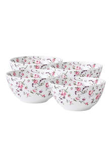 WEDGWOOD Royal Albert Rose Confetti Modern set of four cereal bowls
