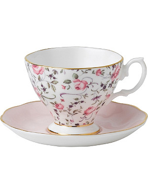 WEDGWOOD Rose Confetti teacup and saucer set