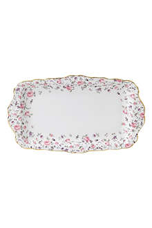 ROYAL ALBERT Rose Confetti sandwich tray 27cm
