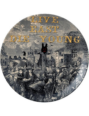 ROYAL DOULTON Live east die young plate