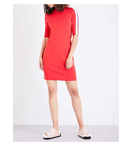 MO&CO. Raglan sleeve knitted dress (Fiery+red